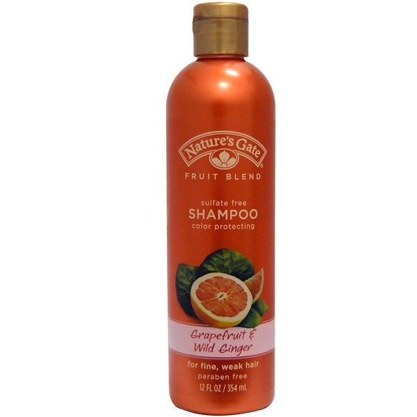 Nature's Gate, Shampoo, Color Protecting, Grapefruit & Wild Ginger, 12 fl oz (354 ml) (Discontinued Item)