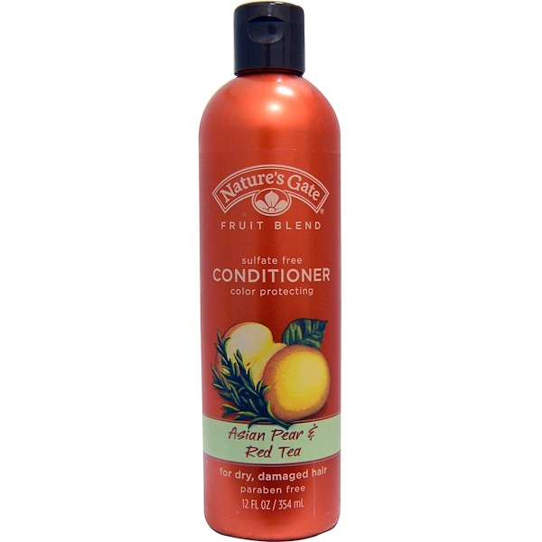Nature's Gate, Conditioner, Color Protecting, Asian Pear & Red Tea, 12 fl oz (354 ml) (Discontinued Item)