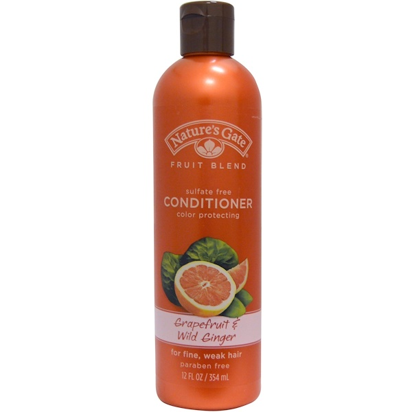 Nature's Gate, Fruit Blend, Conditioner, Color Protecting, Grapefruit & Wild Ginger, 12 fl oz (354 ml) (Discontinued Item)