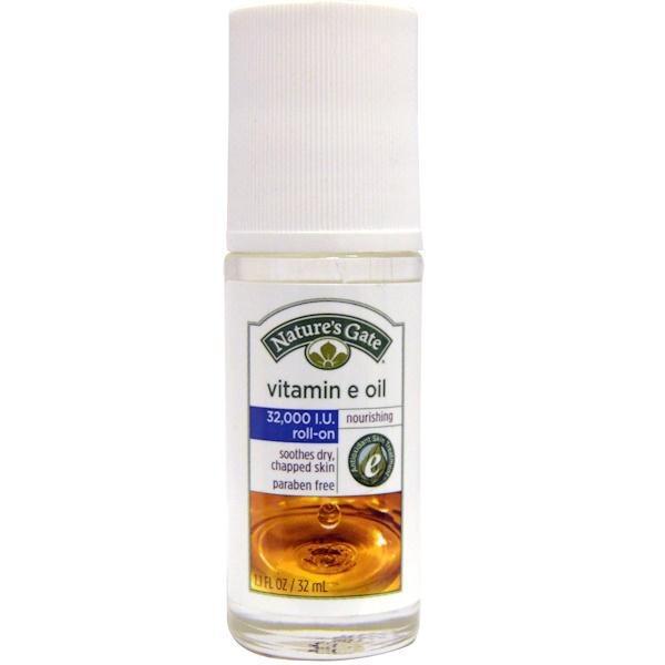 Nature's Gate, Vitamin E Oil, Roll-On, 32,000 IU, 1.1 fl oz (32 ml)