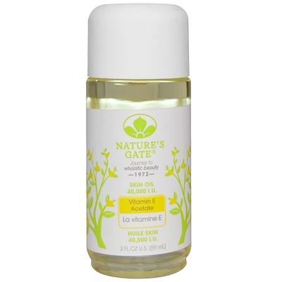 Nature's Gate 維他命 E 醋酸皮膚油,40000國際單位,2液體盎司(59毫升)