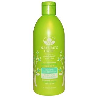 Nature's Gate, Moisturizing Conditioner, Vegan, Aloe Vera + Macadomia Oil, 18 fl oz (532 ml)