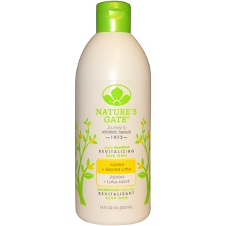 Nature's Gate, Shampoo, Revitalizing, Vegan, Jojoba + Sacred Lotus, 18 fl oz (532 ml)