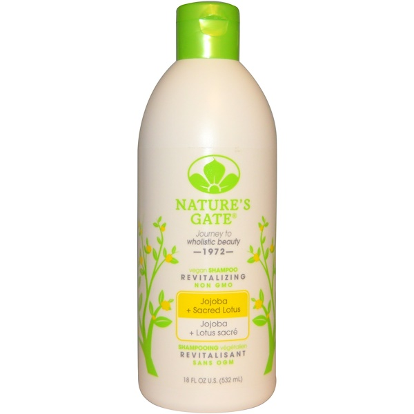 Nature's Gate, Shampoo, Revitalizing, Vegan, Jojoba + Sacred Lotus, 18 fl oz (532 ml) (Discontinued Item)