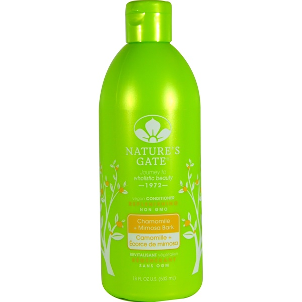 Nature's Gate, Conditioner, Replenishing, Chamomile + Mimosa Bark, 18 fl oz (532 ml) (Discontinued Item)