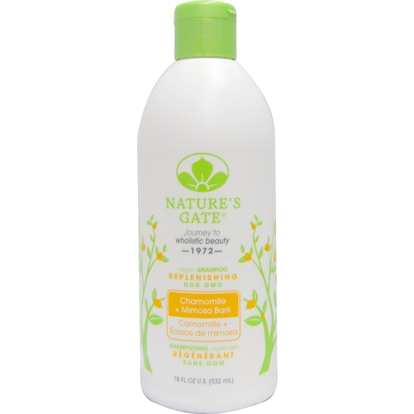 Nature's Gate, Shampoo, Replenishing, Chamomile + Mimosa Bark, 18 fl oz (532 ml) (Discontinued Item)