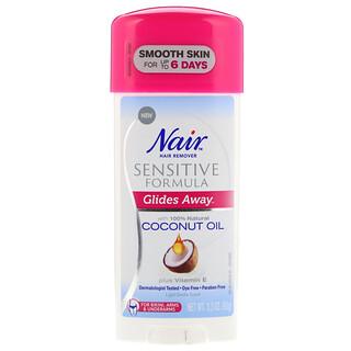 Nair , Hair Remover, Glides Away, Sensitive Formula, For Bikini, Arms & Underarms, 3.3 oz (93 g)