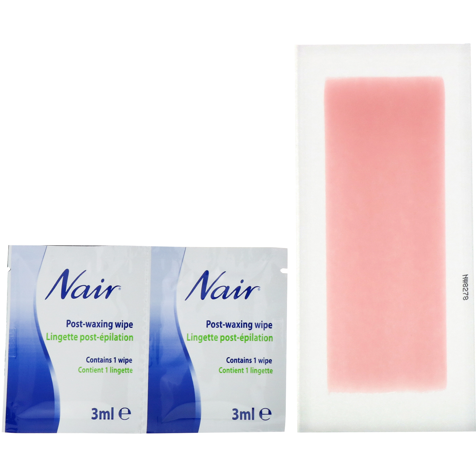 Nair Hair Remover Wax Ready Strips For Legs Body 40 Wax
