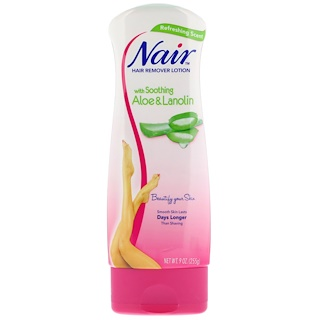 Nair , Hair Remover Lotion, with Soothing Aloe & Lanolin, 9 oz (255 g)
