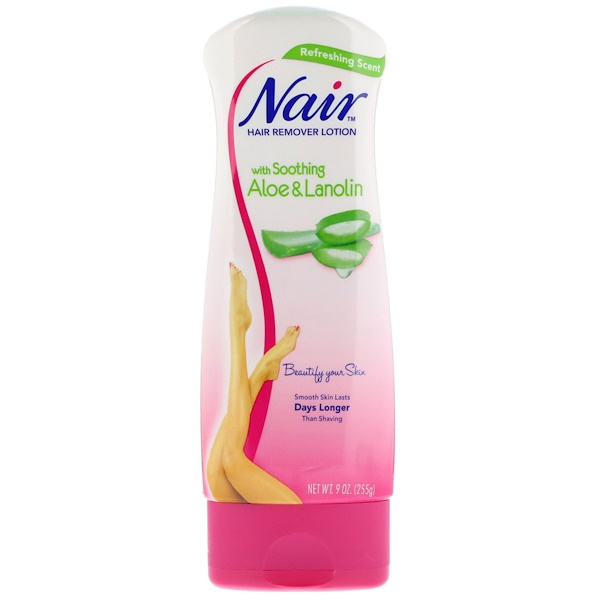 Nair , Hair Remover Lotion, with Soothing Aloe & Lanolin, 9 oz (255 g) (Discontinued Item)