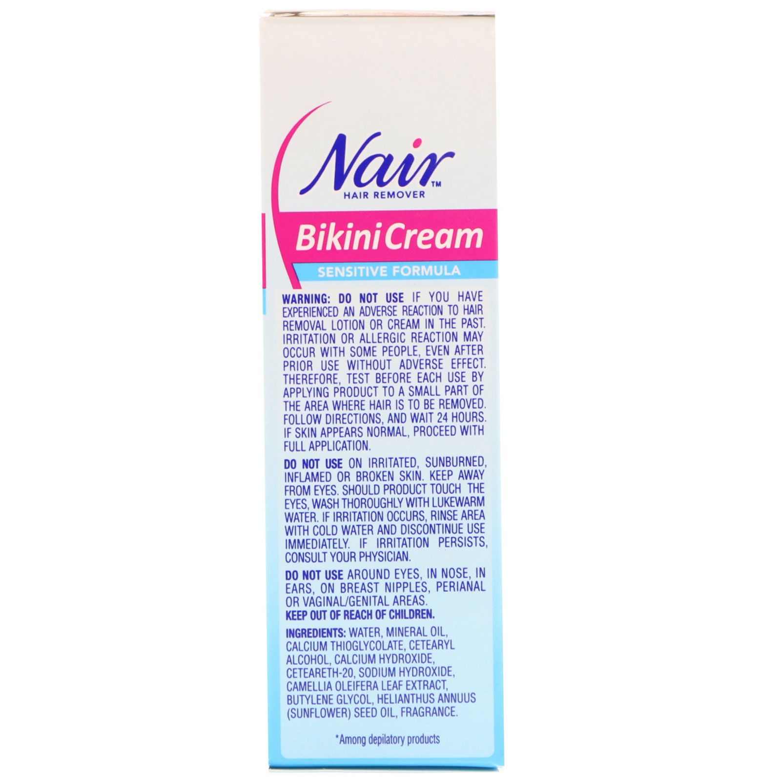 Nair Hair Remover Bikini Cream Sensitive Formula With Green