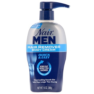 Nair , For Men, Hair Remover Body Cream, Back, Chest, Arms and Legs, 13 oz (368 g)