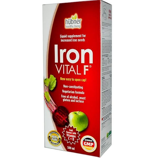 Naka Herbs & Vitamins Ltd, Iron Vital F, Fruit Flavor, 500 ml (Discontinued Item)