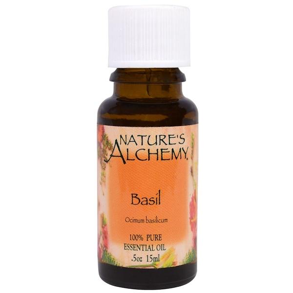 Nature's Alchemy, Basil, Essential Oil, .5 oz (15 ml) (Discontinued Item)