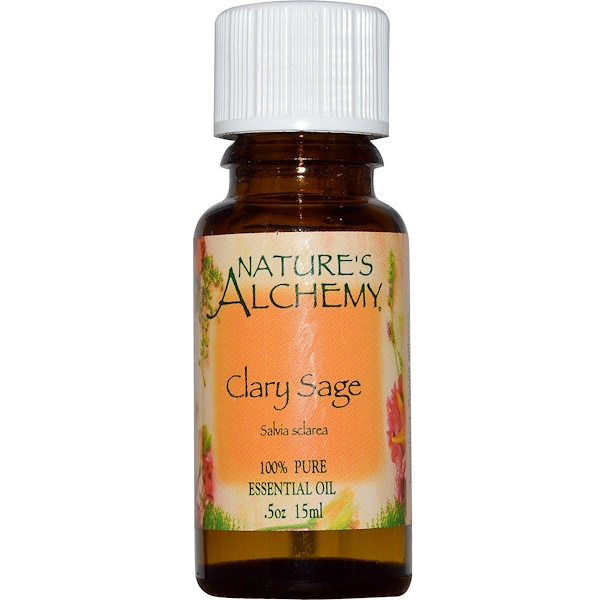 Nature's Alchemy, Clary Sage, Essential Oil, .5 oz (15 ml) (Discontinued Item)