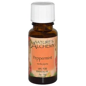Натурес Алкеми, Peppermint Oil, .5 oz (15 ml) отзывы