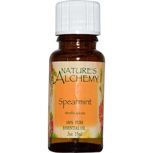 Натурес Алкеми, Spearmint, Essential Oil, .5 oz (15 ml) отзывы покупателей