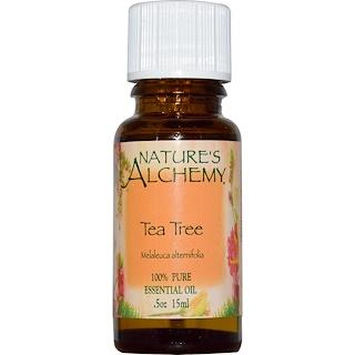 Nature's Alchemy, ティーツリー、エッセンシャルオイル、 0.5オンス (15 ml)