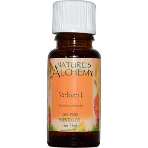 Натурес Алкеми, Vetivert, Essential Oil, .5 oz (15 ml) отзывы покупателей