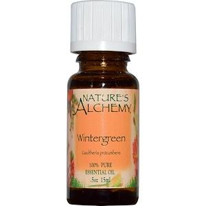 Натурес Алкеми, Wintergreen, Essential Oil, .5 oz (15 ml) отзывы покупателей