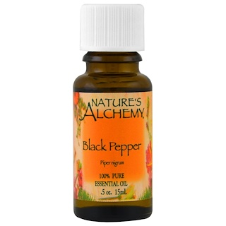 Nature's Alchemy, Black Pepper, Essential Oil, .5 oz (15 ml)