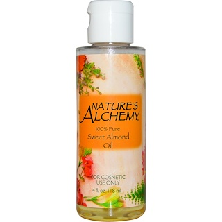 Nature's Alchemy, Aceite de almendras dulces, 4 fl oz (118 ml)