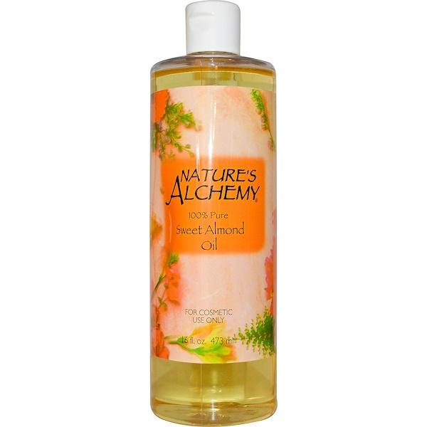 Nature's Alchemy, Sweet Almond Oil, 16 fl oz (473 ml) (Discontinued Item)
