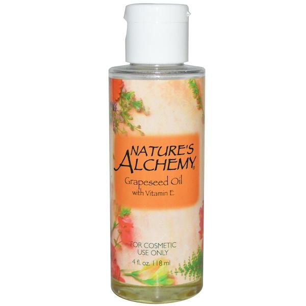 Nature's Alchemy, Масло виноградных косточек с витамином E, 118 мл (Discontinued Item)