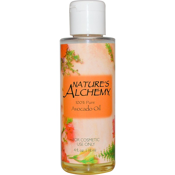 Nature's Alchemy, Avocado Oil, Fragrance Free, 4 fl oz (118 ml) (Discontinued Item)