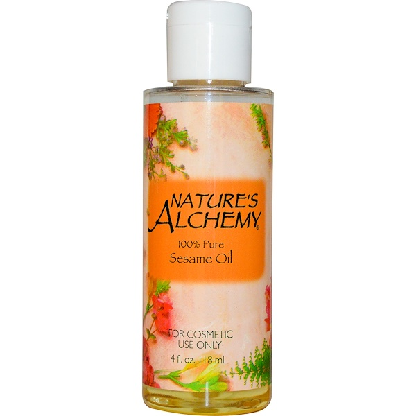 Nature's Alchemy, Sesame Oil, 4 fl oz (118 ml) (Discontinued Item)