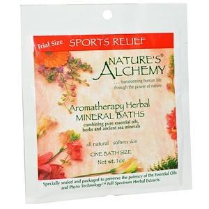 Натурес Алкеми, Aromatherapy Herbal Mineral Baths, Sport Relief, Trial Size, 1 oz отзывы