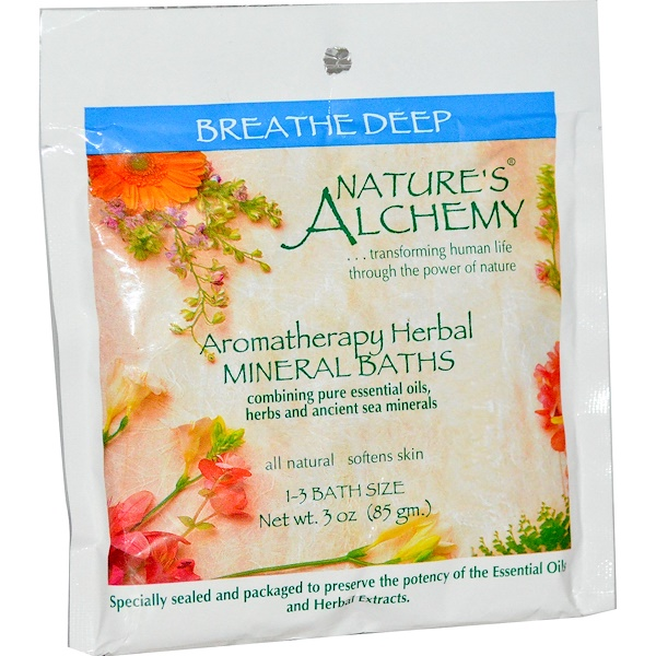 Nature's Alchemy, Aromatherapy Herbal Mineral Baths, Breathe Deep, 3 oz (85 g) (Discontinued Item)
