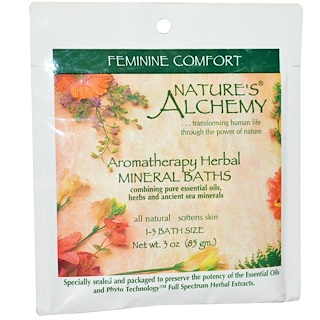 Nature's Alchemy, Aromatherapy Herbal Mineral Baths Feminine Comfort, 3 oz (85 g)