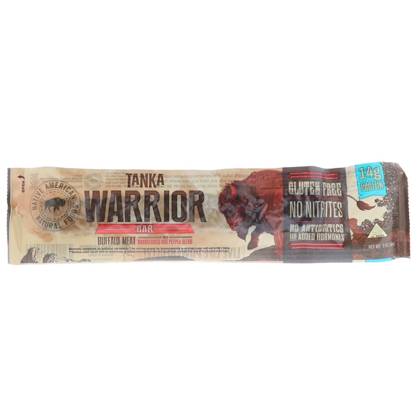 Tanka, Warrior Bar, Buffalo Meat with Cranberries and Pepper Blend, 2 oz (56 g) (Discontinued Item)