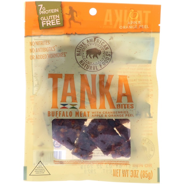 Tanka, Bites, Buffalo Meat with Cranberries, Apple Orange Peel, 30 oz (85 g) (Discontinued Item)