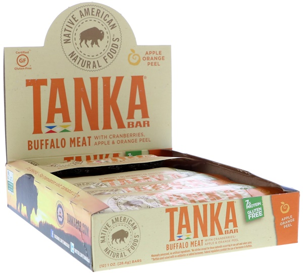 Tanka, Bar, Buffalo Meat with Cranberries, Apple & Orange Peel, 12 Bars, 1 oz (28.4 g) Each (Discontinued Item)