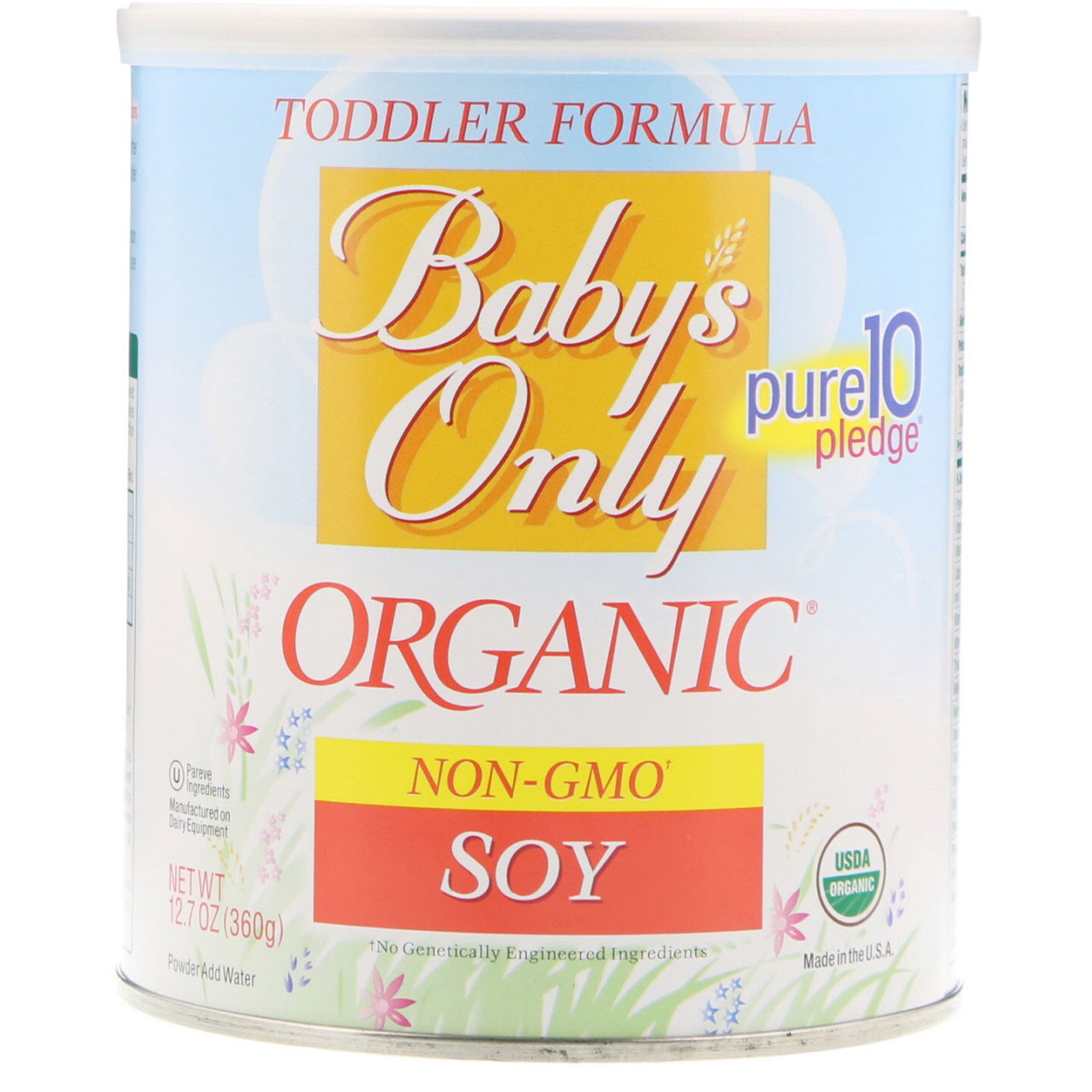 Nature S One Baby S Only Organic Toddler Formula Soy
