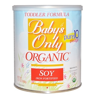 Nature's One, Baby's Only, Organic Toddler Formula, Soy, 12.7 oz (360 g)