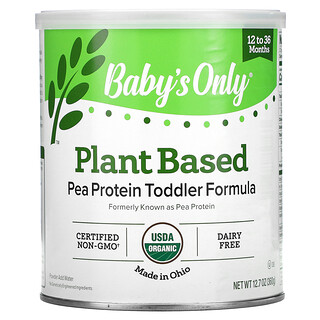 Nature's One, Baby's Only, Plant Based Pea Protein Toddler Formula, 12 to 36 Months, 12.7 oz (360 g)