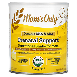 Nature's One, Mom's Only, Prenatal Support, Nutritional Shake for Mom, Lemon Chiffon, 14 oz (396 g)