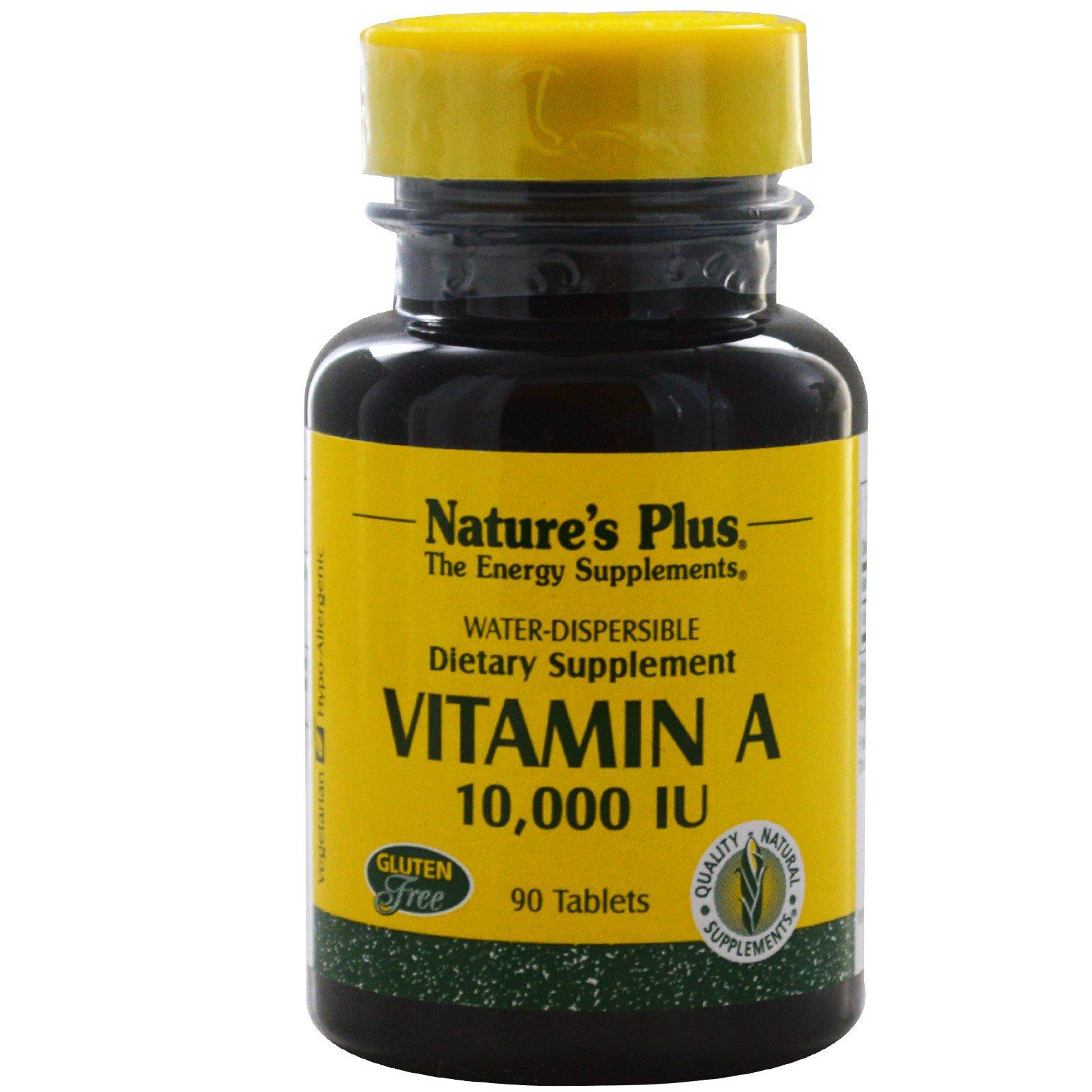 Nature's Plus, Витамин А, 10000 МЕ, 90 таблеток