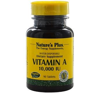 Nature's Plus, Vitamin A, 10,000 IU, 90 Tablets