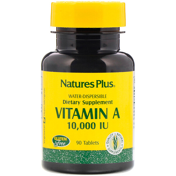 Nature's Plus, Vitamin A, 10,000 IU, 90 Tablets