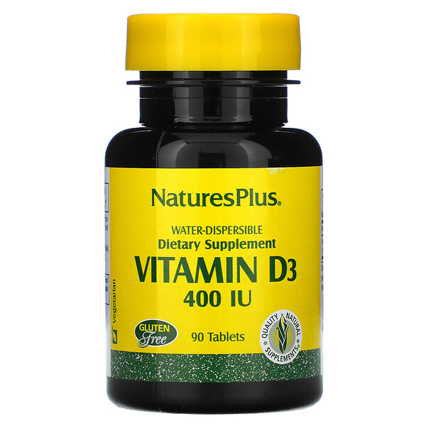 Vitamin D3, 400 IU, 90 Tablets