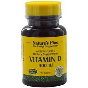 Nature's Plus, Витамин D, 400 МЕ, 90 таблеток