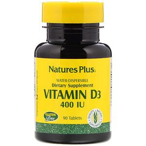 Натурес Плюс, Vitamin D3, 400 IU, 90 Tablets отзывы