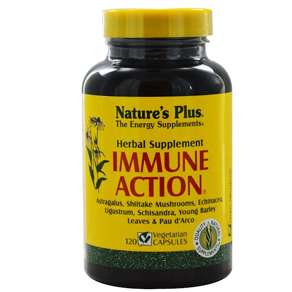 Nature's Plus, 抵抗功效,120粒植物膠囊