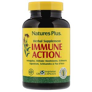 Натурес Плюс, Immune Action, 120 Vegetarian Capsules отзывы