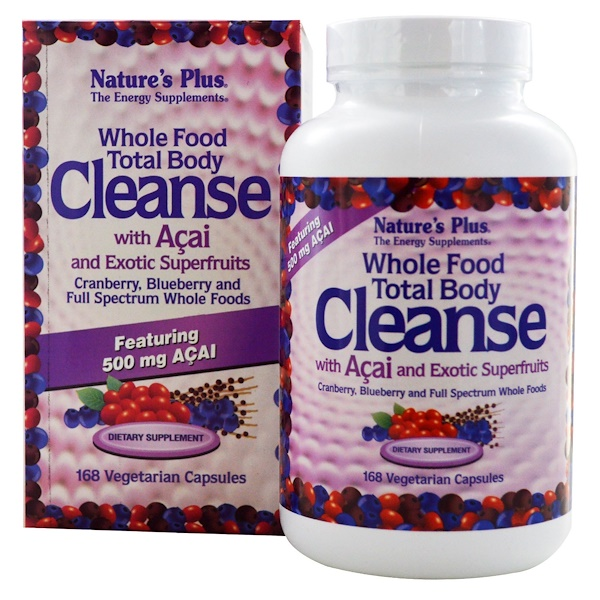 Nature's Plus, Whole Food Total Body Cleanse, with Acai and Exotic Superfruits, 168 Veggie Caps (Discontinued Item)