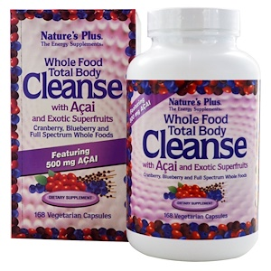 Натурес Плюс, Whole Food Total Body Cleanse, with Acai and Exotic Superfruits, 168 Veggie Caps отзывы